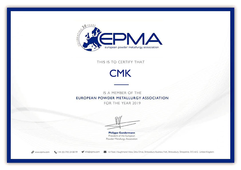 CMK has become an EPMA member